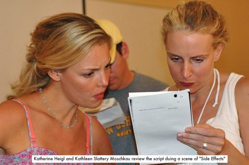 Katherine Heigl and Kathleen Slattery-Moschkau on Side Effects set